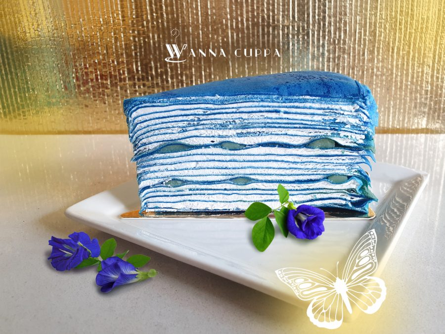 Limited Edition | Butterfly Pea Mille Crepe